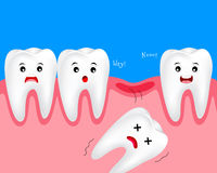 Cute cartoon tooth character. Royalty Free Stock Image