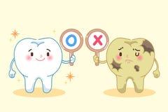 Cute cartoon tooth Stock Image