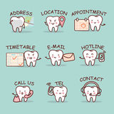 Cute cartoon tooth set. With web design text and word, great for your website design royalty free illustration