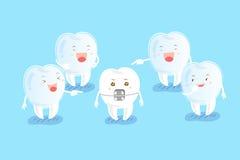 Cute cartoon tooth Royalty Free Stock Image
