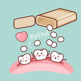 Cute cartoon tooth Stock Photos