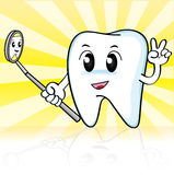 Cute cartoon tooth Stock Photography