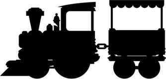 Cartoon Toy Train Silhouette Stock Vector - Illustration ...
