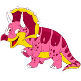 Cute cartoon triceratops Stock Photo