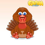 Cute Cartoon Turkey Royalty Free Stock Photo