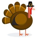 Cute Cartoon Turkey With Pilgrim Hat Stock Image