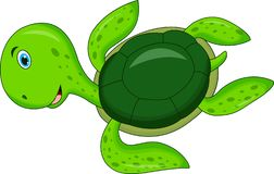 Cute Cartoon Turtle stock illustration
