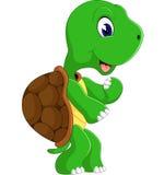 Cute cartoon turtle. Of illustration Royalty Free Stock Photos