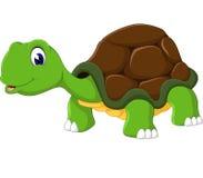 Cute cartoon turtle. Of illustration Stock Photo