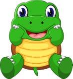 Cute cartoon turtle. Of illustration Stock Photography