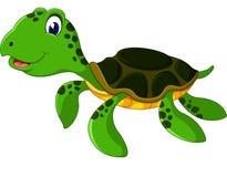 Cute cartoon turtle Stock Image