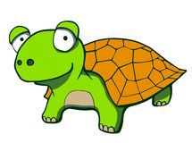 Cute cartoon turtle. Vector illustration Royalty Free Stock Images