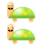 Cute cartoon turtles clip art Stock Image
