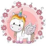 Cute Cartoon Unicorn Stock Photography