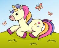 Cute cartoon unicorn stock images