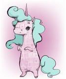 Cute cartoon unicorn royalty free illustration
