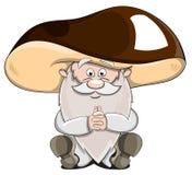 Cute cartoon vector fairytale oldman-mushroom Stock Images