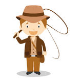 Cute cartoon vector illustration of an Adventurer Stock Image
