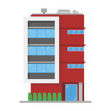 Cute cartoon vector illustration of a building Stock Photo