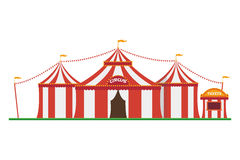 Cute cartoon vector illustration of a circus Royalty Free Stock Photos