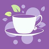 Cute cartoon vector illustration with cup. For postcards, posters, stickers Stock Image