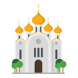Cute cartoon vector illustration of an Orthodox Church Royalty Free Stock Photography