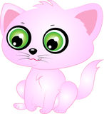Cute Cartoon Vector Kitten. Illustration with big eyes Royalty Free Stock Images
