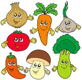 Cute cartoon vegetable collection Royalty Free Stock Photos
