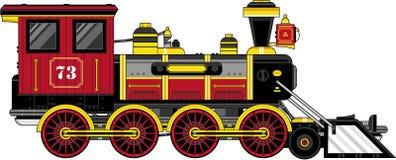 Cute Cartoon Vintage Train Royalty Free Stock Photos