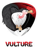 Cute cartoon vulture Royalty Free Stock Photography