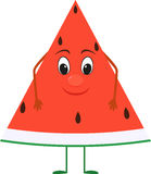 Cute cartoon Watermelon with face. Stock Images
