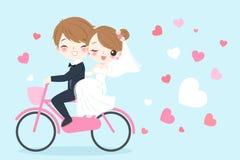 Cartoon wedding people vector illustration