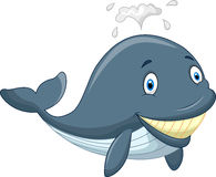 Cute cartoon whale. Illustration of Cute cartoon whale Royalty Free Stock Photo