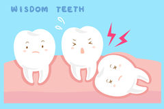 Cute cartoon wisdom teeth. With health concept Royalty Free Stock Photography