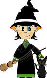 Cute Cartoon Witch Royalty Free Stock Photo