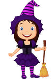 Cute cartoon witch. Illustration of Cute cartoon witch Royalty Free Stock Image