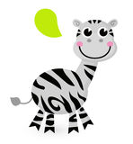 Cute cartoon Zebra Royalty Free Stock Photography