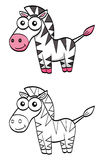 Cute cartoon zebra Stock Image