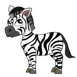 Cute cartoon zebra Stock Photo