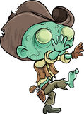 Cute cartoon zombie cowboy. Isolated on white Royalty Free Stock Photo
