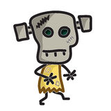 Cute cartoon Zombie Monster Design Stock Photography