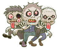 Cute cartoon zombies Royalty Free Stock Images