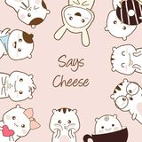 cute cartoons sketch hand drawing says cheese royalty free illustration