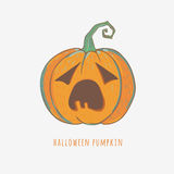 Cute carved pumpkin for Halloween Stock Image