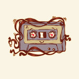 Cute cassette tape Royalty Free Stock Photos