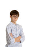 Cute casual boy with glasses royalty free stock photos