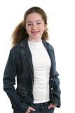 Cute Casual Teen. A cute, casual teen girl in denim Stock Images