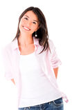 Cute casual woman Royalty Free Stock Photos
