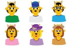 Cute cat avatars Stock Image