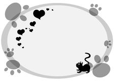 Cute cat background horizonal Royalty Free Stock Photography